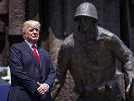 Президент США Дональд Трамп во время визита в Варшаву. 6 июля 2017