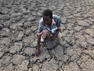 Высохшая земля в Зимбабве