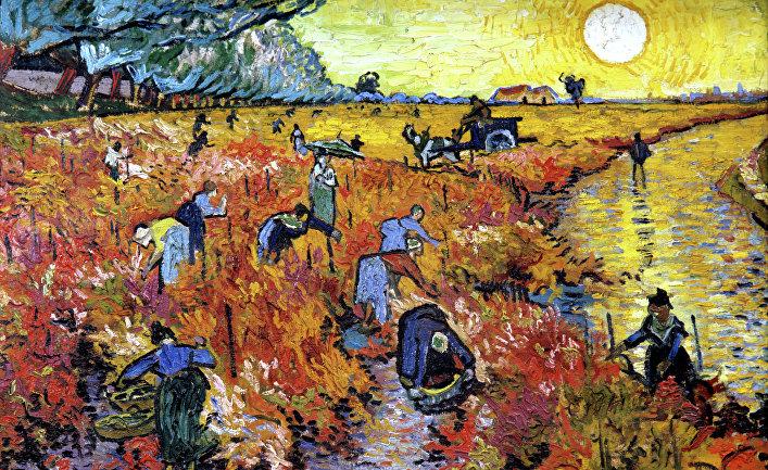Картина «Красные виноградники в Арле»
