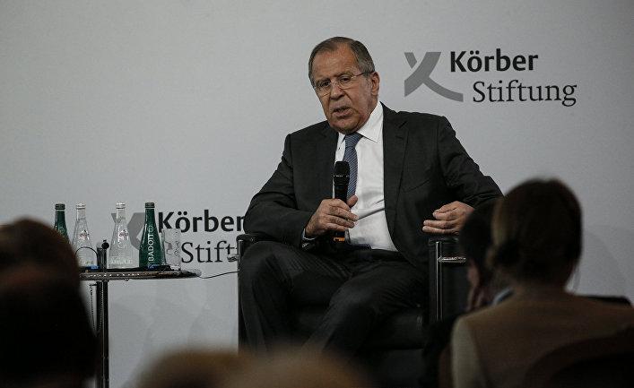 Выступление министра иностранных дел России Сергея Лаврова в Фонде им. Кербера, Берлин. 13 июля 2017