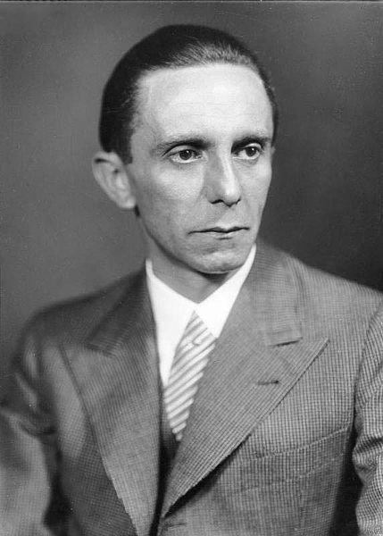 Государственный и политический деятель нацистской Германии Пауль Йозеф Геббельс