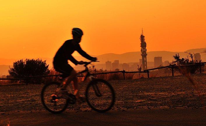 Велосипедист в ЮАР