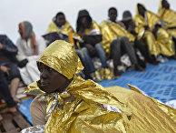 Спасательная операция у берегов Ливии в Средиземном море