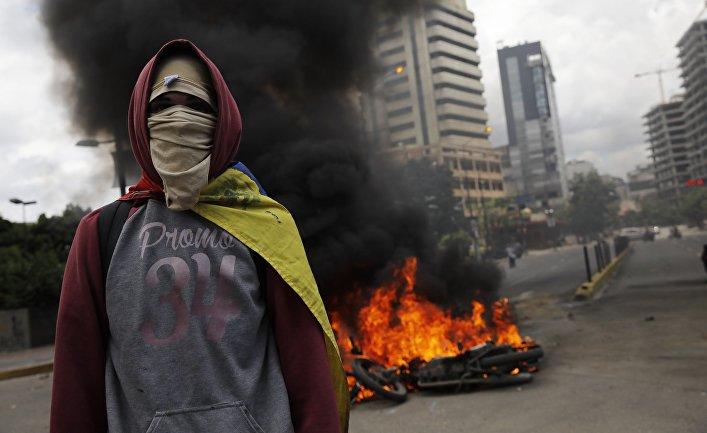Акции протеста оппозиции в Каракасе