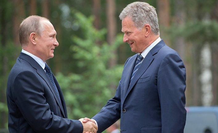 Президент РФ Владимир Путин и президент Финляндии Саули Ниинистё