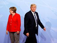 Президент США Дональд Трамп и канцлер Германии Ангела Меркель на саммите G20 в Гамбурге