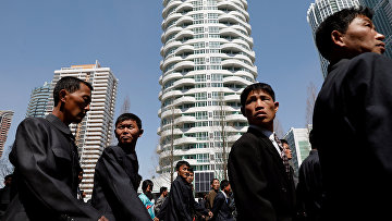 Открытие жилого комплекса в Пхеньяне