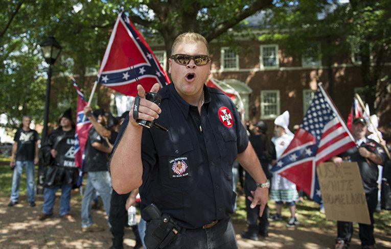 Акция протеста в в Шарлоттсвилле, штат Вирджиния