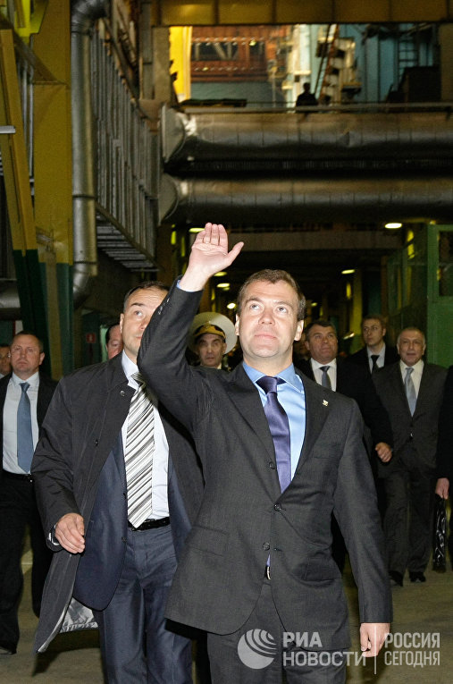 Рабочая поездка Дмитрия Медведева в Северодвинск
