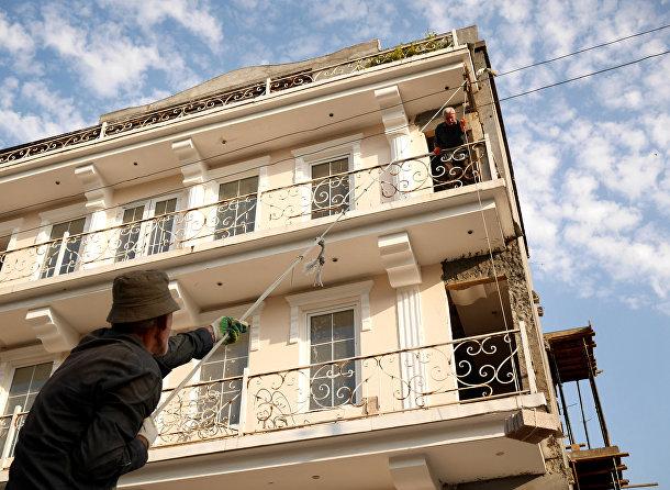Ремонт здания в Абхазии