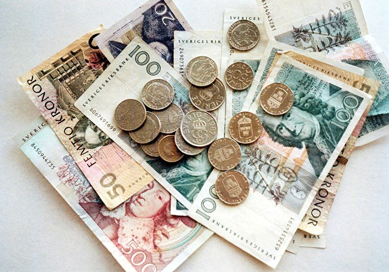 Шведские монеты и купюры