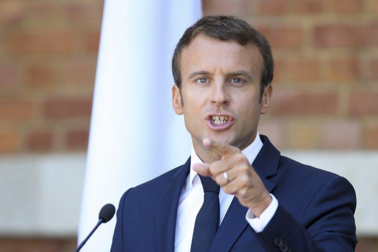 Президент Франции Эммануэль Макрон в Болгарии