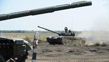 Учения танковых подразделений в Ростовской области