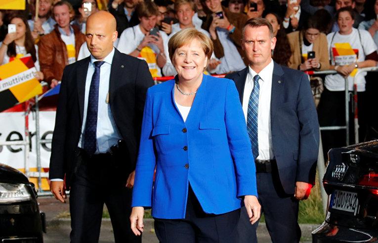 Канцлер Германии Ангела Меркель в Берлине