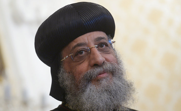 Глава Коптской православной церкви Александрийский папа и патриарх святейший Тавадрос (Феодор) II