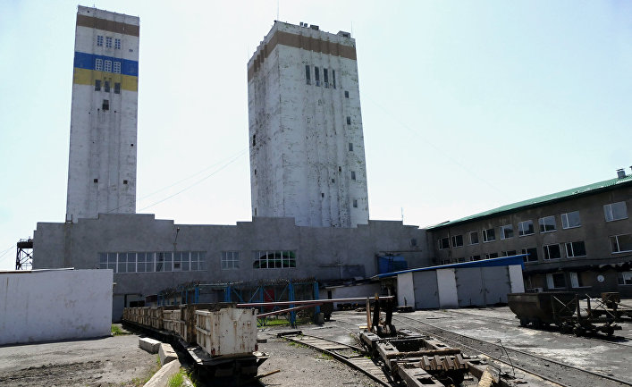 """Работа шахты """"Комсомолец Донбасса"""" в Донецкой области"""