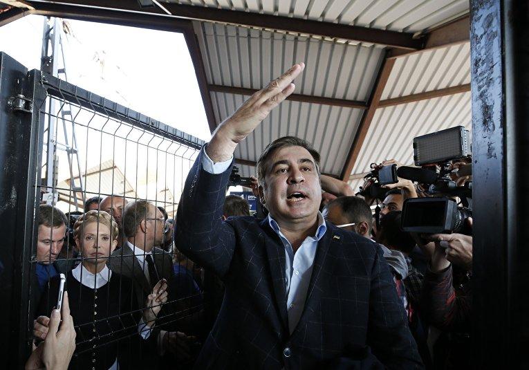 Экс-президент Грузии, бывший губернатор Одесской области Михаил Саакашвили и лидер всеукраинского объединения «Батькивщина» Юлия Тимошенко