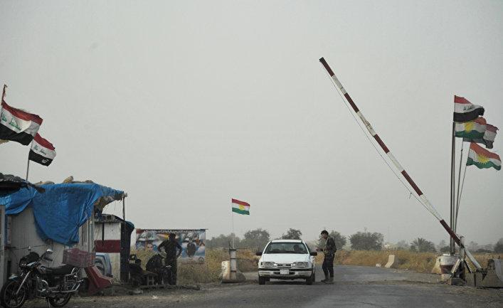 Вооруженные силы Иракского Курдистана в провинции Киркук в Ираке