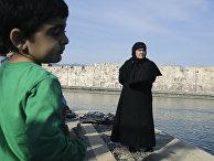 Беженцы из Сирии на греческом острове Кос