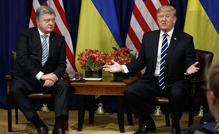 Президент Украины Петр Порошенко и Президент США Дональд Трамп на Генеральной Ассамблее ООН в Нью-Йорке. 21 сентября 2017