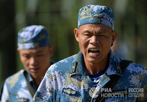 Сухопутная фаза российско-китайских учений «Морское взаимодействие – 2017»