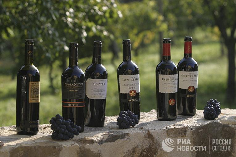 Красные вина из винограда брунелло