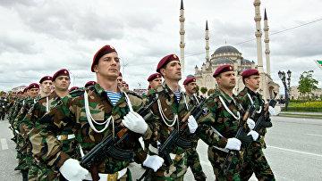 В Грозном отмечают 9 мая