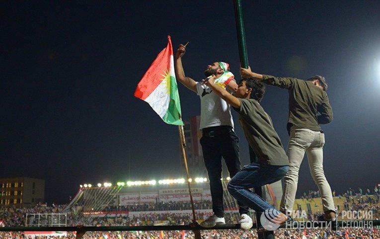 Митинг сторонников независимости Иракского Курдистана