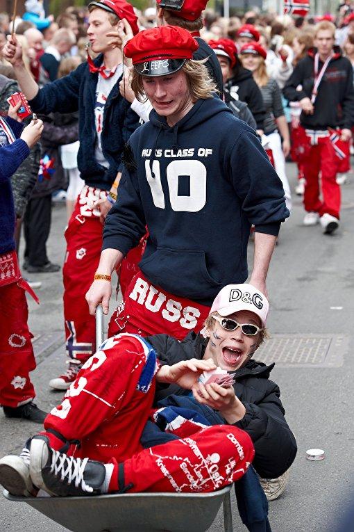 Парад выпускников в Норвегии