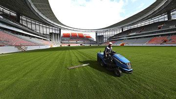 Центральный стадион в Екатеринбурге, реконструируемый к чемпионату мира по футболу 2018 года