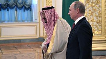 Переговоры президента РФ В. Путина с королем Саудовской Аравии С. Аль-Саудом