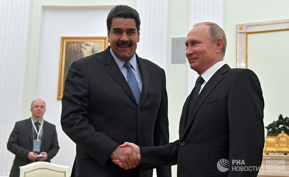 Встреча президента РФ Владимира Путина с президентом Венесуэлы Никалосом Мадуро. 4 октября 2017