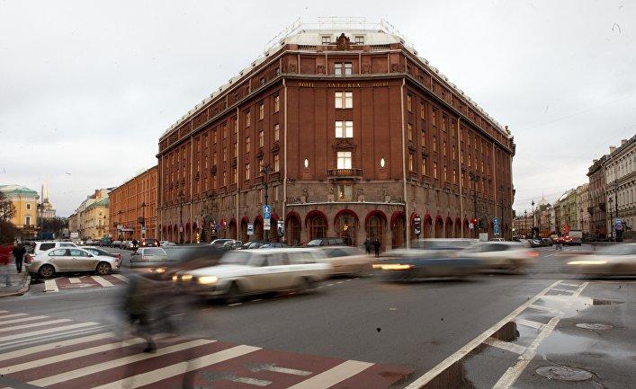 Здание гостиницы «Астория» в Санкт-Петербурге