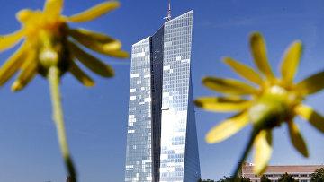 Штаб-квартира Европейского центрального банка во Франкфурте-на-Майне