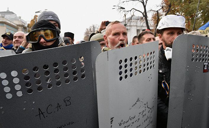 Митинг у здания Верховной рады Украины в Киеве