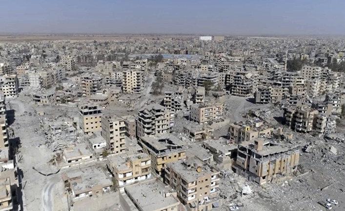 Разрушенные здания с Ракке, Сирия
