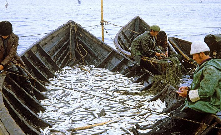 Промысел омуля на озере Байкал