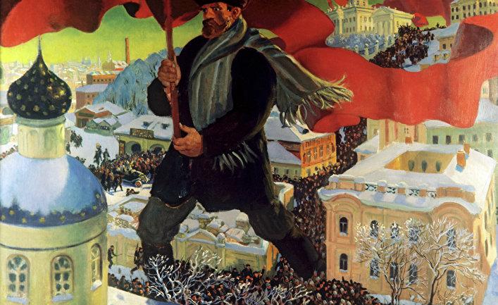 """Репродукция картины """"Большевик"""""""