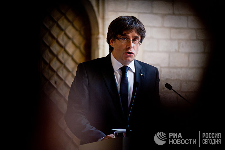 Глава правительства Каталонии К.Пучдемон выступил с заявлением