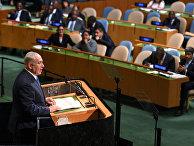 Премьер-министр Израиля Биньямин Нетаньяху на 72-й сессии Генеральной Ассамблеи ООН