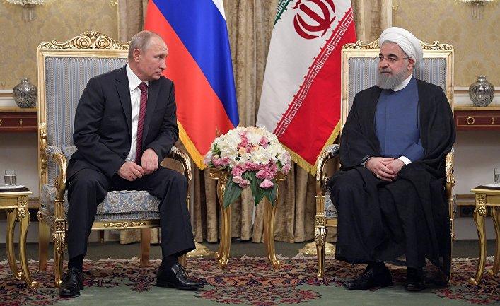 Президент РФ Владимир Путин и президент Ирана Хасан Рухани