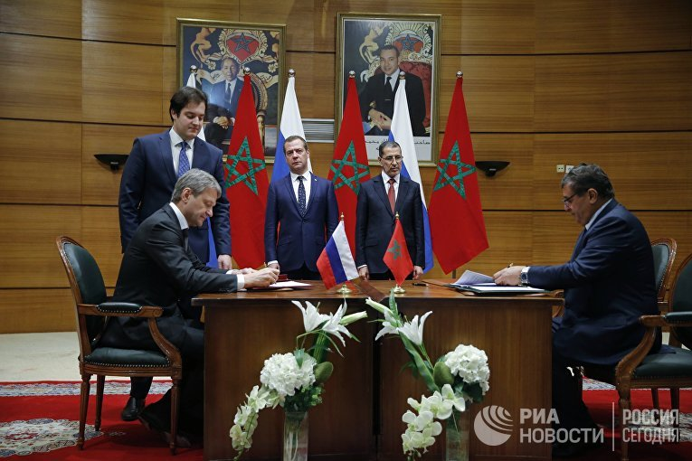 Рабочий визит премьер-министра РФ Д. Медведева в Марокко