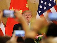 Президент США Дональд Трамп во время визита в Китай. 9 ноября 2017 года