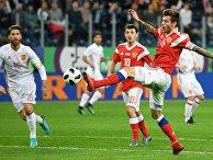 Футбол. Товарищеский матч. Россия - Испания