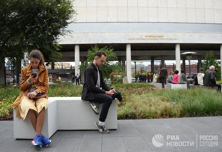 Открытие внутреннего двора Третьяковской галереи на Крымском Валу после реконструкции