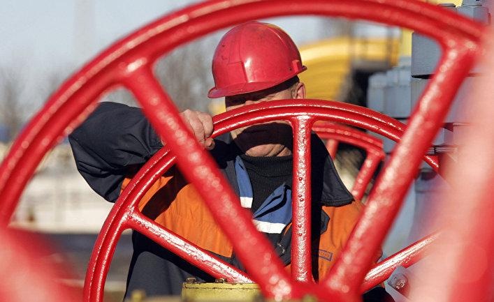 Работа газокомпрессорной станции газопровода Ямал-Европа в Белоруссии