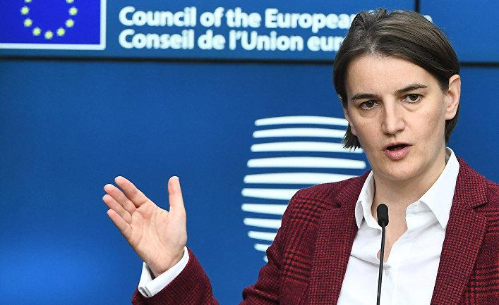 Премьер-министр Сербии Ана Брнабич