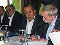 Встреча министров иностранных дел Турции, России и Ирана в Анталье