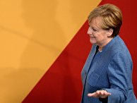 Канцлер Германии, лидер Христианско-демократического союза Ангела Меркель во время парламентских выборов в Берлине. 24 сентября 2017
