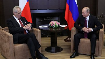 Владимир Путин и президент Чехии Милош Земан во время встречи. 21 ноября 2017